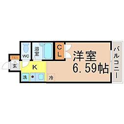 愛知県名古屋市昭和区塩付通1の賃貸マンションの間取り