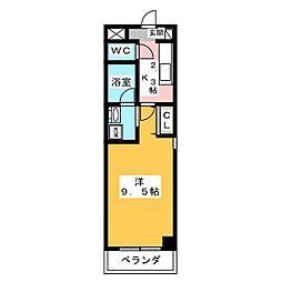 ヴァンテアン桜山[7階]の間取り
