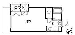 福岡県福岡市東区香椎2の賃貸アパートの間取り
