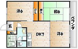 サンクチュアリ[4階]の間取り