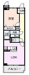 サニーヒル天王[307号室]の間取り