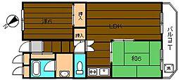レジデンスサノ[4階]の間取り