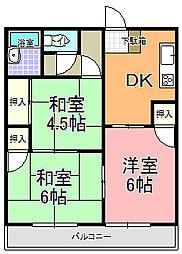 飛田コーポ B棟[202号室]の間取り