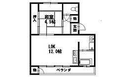京都ハウス[308号室]の間取り
