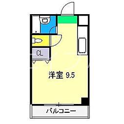 コーポMIKI I南棟(河ノ瀬)[2階]の間取り