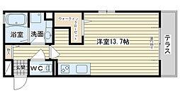 大阪府高槻市栄町4丁目の賃貸アパートの間取り