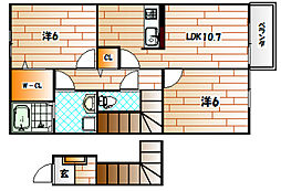 レジナスI[2階]の間取り