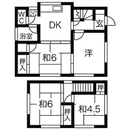 [一戸建] 神奈川県茅ヶ崎市松浪2丁目 の賃貸【/】の間取り