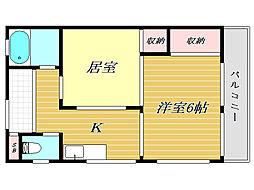横田ハウス[2階]の間取り