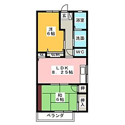 ベルドミール[2階]の間取り