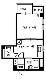 エクシード1[1階]の間取り