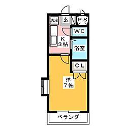 ヒサゴハイツII[5階]の間取り