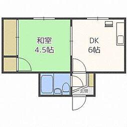 アプリーレ[2階]の間取り