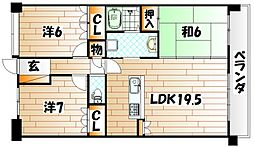シャトレ大手町 S棟[3階]の間取り