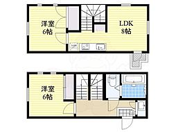 東京メトロ日比谷線 広尾駅 徒歩11分の賃貸アパート 1階2LDKの間取り