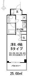センチュリー三鷹井口弐番館[205号室(Bタイプ)号室]の間取り