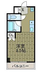 ディアコートサガミ[1階]の間取り