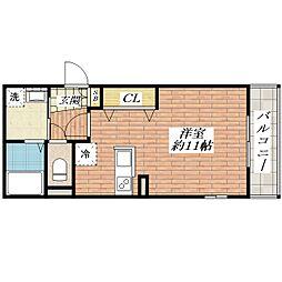 大阪府茨木市下穂積2の賃貸マンションの間取り