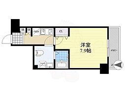リヴシティ錦糸町五番館 3階1Kの間取り