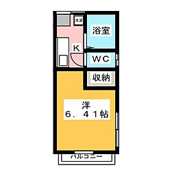 翔光館[2階]の間取り