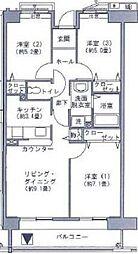 アクティ目黒駅前 2号棟[8階]の間取り
