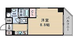 インベスト本町WEST[9階]の間取り