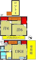 [テラスハウス] 千葉県市川市堀之内3丁目 の賃貸【/】の間取り