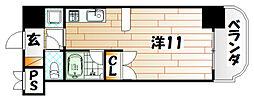 オリエンタル黒崎[5階]の間取り