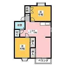 ファミーユ・ビボ C棟[2階]の間取り