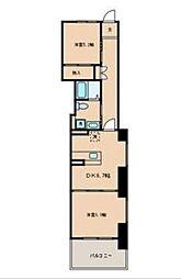 PARK SIDE GARDEN[4階]の間取り