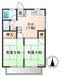 シルクハイツ[2階]の間取り