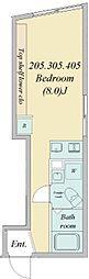 関町南3丁目築浅マンション 4階ワンルームの間取り