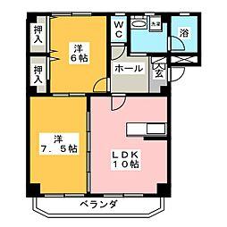 ルフシモフ(Le Fushimofu)[1階]の間取り