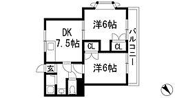 兵庫県宝塚市光明町の賃貸マンションの間取り