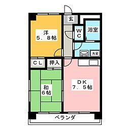 ルガール21[3階]の間取り