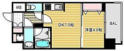 セイワパレス京町堀[15階]の間取り