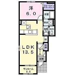 波志江町アパート[0101号室]の間取り
