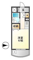 愛知県名古屋市千種区振甫町1丁目の賃貸マンションの間取り