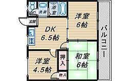 リバーサイドマンション・レオ[102号室]の間取り