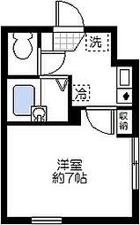 神奈川県川崎市川崎区南町の賃貸アパートの間取り