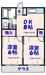 パールマンション[105号室]の間取り
