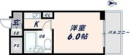 エクセルシオール長田[901号室]の間取り