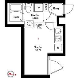 カサ ソフィア 3階ワンルームの間取り