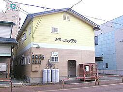 秋田県大仙市朝日町の賃貸アパートの外観