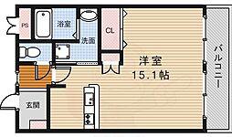 ソレイユ 1階ワンルームの間取り