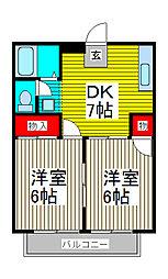 飯田ハイツ[2階]の間取り
