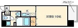 ビガーポリス109天満1丁目[2階]の間取り