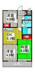 ハイクレスト喜沢南マンション[5階]の間取り