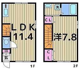 [テラスハウス] 東京都足立区足立4丁目 の賃貸【/】の間取り