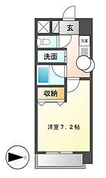 クレジデンス新栄[6階]の間取り